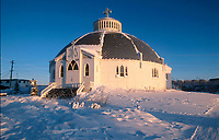 The igloo Church (Our Lady of Victory) at Inuvik, Northwest Territories, Canada   Photo: Peter Llewellyn