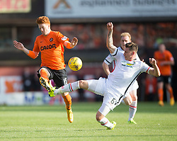 Dundee United's Simon Murray and Inverness Caledonian Thistle's Josh Meekings. <br /> Dundee United 1 v 1 Inverness Caledonian Thistle, SPFL Ladbrokes Premiership game played 19/9/2015 at Tannadice.