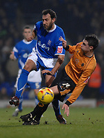 Photo: Ashley Pickering.<br /> Ipswich Town v Wolverhampton Wanderers. Coca Cola Championship. 20/02/2007.<br /> Sylvain Legwinski of Ipswich (L) and Darren Potter of Wolves