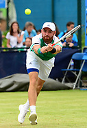 Bjorn Frantangelo (USA) in action during his match against Darian King (BAR). The Aegon Open Nottingham 2017, international tennis tournament at the Nottingham tennis centre in Nottingham, Notts , day 2 on Tuesday 13th June 2017.<br /> pic by Bradley Collyer, Andrew Orchard sports photography.