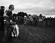 17/9/1970<br /> 9/17/1970<br /> 17 September 1970<br /> <br /> Some of the crowd who followed the play at Portmarnock on the opening day of the tournament, watching Jim Colbert from Overland Park Kansas hit out of the rough