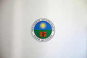 Logo of the NGO Kham in the office of the organisation in Delcevo.