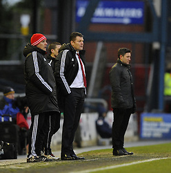 Bristol City manager, Steve Cotterill - Photo mandatory by-line: Joe Meredith/JMP - Tel: Mobile: 07966 386802 08/02/2014 - SPORT - FOOTBALL - Oldham - Boundary Park - Oldham Athletic v Bristol City - Sky Bet League One