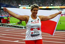 July 14, 2018 - London, United Kingdom - Winner of the shot put Pauline Guba of Poland.during Athletics World Cup London 2018 at London Stadium, London, on 14 July 2018  (Credit Image: © Action Foto Sport/NurPhoto via ZUMA Press)