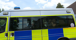 """East Grinstead Saturday 17th June 2017   <br /> <br /> Trinity Methodist Church was used as a refuge centre for the suspected illegal immigrants<br /> Sixteen suspected illegal immigrants, believed to be Iraqi nationals, have been found in the back of an """"exceptionally hot"""" lorry.<br /> The people inside waved to catch the attention of passing motorists, who flagged down the driver on the A22 in East Grinstead just before 09:30am<br /> Thirteen men, two women and a child were inside. Two of the men were taken to hospital suffering from dehydration.<br /> The driver was arrested on suspicion of facilitating illegal immigration.<br /> <br /> The 63-year-old driver pulled over in a bus stop close to the junction with Dorset Avenue.<br /> The nearby Trinity Methodist Church was then used as a refuge centre until immigration enforcement officers arrived.<br /> Sgt William Keating-Jones, of Sussex Police, said: """"The vehicle was exceptionally hot and it was important we reacted quickly.<br /> """"This was a great multi-agency response to a potentially life-threatening situation, with emergency services, immigration officials, volunteers and even local residents all pulling together.""""©UKNIP"""