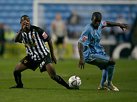 Photo: Steve Bond.<br />Coventry City v Notts County. The Carling Cup. 14/08/2007. Isaac Osborne (R) defends against Myles Weston (R)