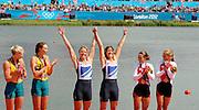 Eton Dorney, Windsor, Great Britain,..2012 London Olympic Regatta, Dorney Lake. Eton Rowing Centre, Berkshire.  Dorney Lake.  ..Final Women's Double Scull, GBR W2X, Bow Anna WATKINS and Katherine GRAINGER..12:46:16  Friday  03/08/2012 [Mandatory Credit: Peter Spurrier/Intersport Images]