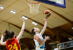 Tina Trebec of Slovenia during friendly basketball match between Women National Teams of Slovenia and Montenegro, on May 21, 2021 in Arena Tri Lilije, Lasko, Slovenia. Photo by Vid Ponikvar / Sportida