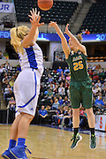 April 4, 2016; Indianapolis, Ind.; Jessica Madison shoots a three pointer in the NCAA Division II Women's Basketball National Championship game at Bankers Life Fieldhouse between UAA and Lubbock Christian. The Seawolves lost to the Lady Chaps 78-73.