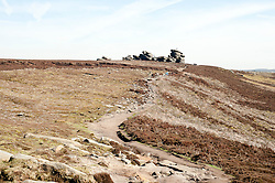 Derwent Edge in the Peak National Park..http://www.pauldaviddrabble.co.uk.25 March 2012 .Image © Paul David Drabble
