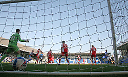 Jack Taylor of Peterborough United (right) scores his sides equalising goal - Mandatory by-line: Joe Dent/JMP - 19/09/2020 - FOOTBALL - Weston Homes Stadium - Peterborough, England - Peterborough United v Fleetwood Town - Sky Bet League One