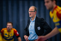 Coach Redbad Strikwerda of Dynamo in action during the first league match in the corona lockdown between Sliedrecht Sport vs. Draisma Dynamo on January 09, 2021 in Sliedrecht.