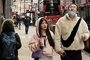 People out and about along Shaftesbury Avenue on 25th May 2021 in London, United Kingdom. As the coronavirus lockdown continues its process of easing restrictions, more and more people are coming to the West End as more businesses open.