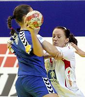 05.12.2008 Ohrid(FYR Macedonia)<br />Ukraine-Norway European women's handball championship<br />Aamodt Ragnhild (R) Norway  <br />Foto:Aleksandar Djorovic