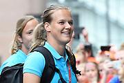 Aankomst  bij de openingswedstrijd van WEURO2017, het EK voetbal vrouwen gehouden in de Stadion Galgenwaard Utrecht<br /> <br /> Op de foto:  Sheila van den Bulk