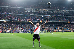 River Plate Gonzalo Martinez celebrating the championship after Commebol Final Match between River Plate and Boca Juniors at Santiago Bernabeu Stadium in Madrid, Spain. December 9, 2018. Photo by Borja B.Hojas/AlterPhotos/ABACAPRESS.COM)