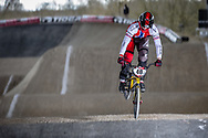 #40 (NAVRESTAD Tore) NOR at the 2018 UCI BMX Superscross World Cup in Saint-Quentin-En-Yvelines, France.