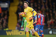 Goalkeeper Wayne Hennessey of Crystal Palace shouts at his players. Barclays Premier league match, Crystal Palace v Sunderland at Selhurst Park in London on Monday 23rd November 2015.<br /> pic by John Patrick Fletcher, Andrew Orchard sports photography.
