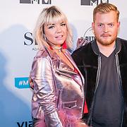 NLD/Amsterdam/20171106 - MTV Pre party 2017, Amanda van Efrink en Ramon Heinhuis