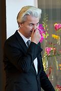 Nationale Herdenking voor de slachtoffers van vlucht MH17 in de RAI , Amsterdam.Vertrek van de gasten na afloop van de bijeenkomst<br /> <br /> National Memorial for the victims of flight MH17 in the RAI, Amsterdam.VThe guests leave after the meeting<br /> <br /> Op de foto / On the photo: <br /> <br />  Geert Wilders