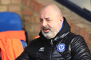 Keith Hill during the EFL Sky Bet League 1 match between Southend United and Rochdale at Roots Hall, Southend, England on 22 December 2018.