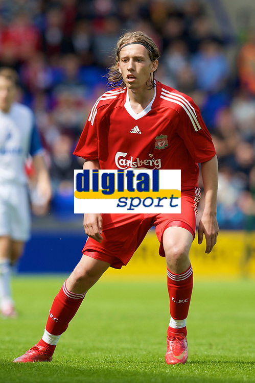 Fotball<br /> England <br /> Foto: Propaganda/Digitalsport<br /> NORWAY ONLY<br /> <br /> BIRKENHEAD, ENGLAND - Saturday, July 12, 2008: Liverpool's Lucas Leiva during his side's first pre-season match of the 2008/2009 season against Tranmere Rovers at Prenton Park.<br /> <br /> Liverpool v Tranmere