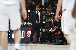 November 17, 2017 - Milan, Milan, Italy - Andrea Trinchieri (Brose Bamberg) during a game of Turkish Airlines EuroLeague basketball between  AX Armani Exchange Milan vs Brose Bamberg at Mediolanum Forum, on November 17, 2017 in Milan, Italy. (Credit Image: © Roberto Finizio/NurPhoto via ZUMA Press)