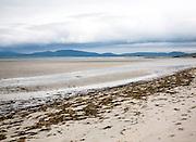 Overcast sky sandy beach Eoligarry, Barra, Outer Hebrides, Scotland, UK