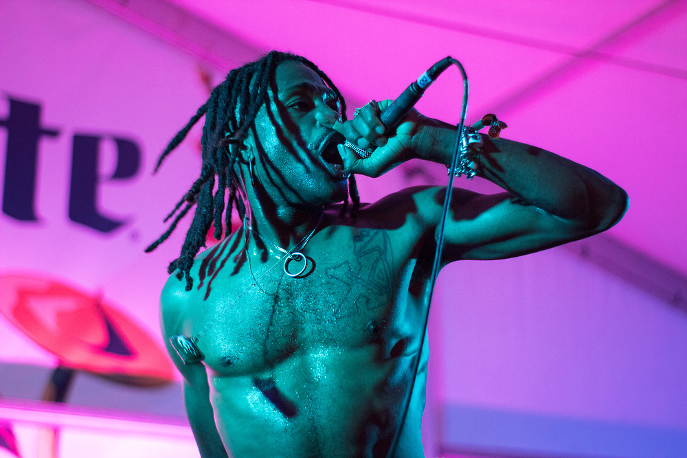 DUCKWRTH performs at Bonnaroo in Manchester, TN on June 9, 2018.