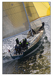 The third days racing at the Bell Lawrie Yachting Series in Tarbert Loch Fyne ..Perfect conditions finally arrived for competitors on the three race courses...Swan 45 .GBR92R Murka 2 , Mikhail Mouratov RSYC.