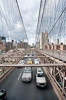 traffic on brooklyn bridge in New York City October 2008