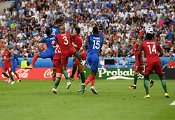 Olivier Giroud of France heads wide  - Mandatory by-line: Joe Meredith/JMP - 10/07/2016 - FOOTBALL - Stade de France - Saint-Denis, France - Portugal v France - UEFA European Championship Final