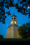 The Klockstapeln clocktower in Karlskrona, Sweden<br /> .....<br /> Karlskrona is a locality and the seat of Karlskrona Municipality, Blekinge County, Sweden. It is also the capital of Blekinge County. Karlskrona is known as Sweden's only baroque city and is host to Sweden's only remaining naval base and the headquarters of the Swedish Coast Guard. The city of Karlskrona is spread over 30 islands in the eastern part of Blekinge archipelago, Trossö being the main one; another is Saltö. The islet of Stumholmen was formerly property of the Navy and today it houses the National Naval Museum (Marinmuseum). Outside the city lies the archipelago of Karlskrona, the most southern of the Swedish archipelagos. Several islands are connected to the city by ferries. The city was founded in 1680 when the Royal Swedish Navy was relocated from the Stockholm area to the Trossö island which had up until then been used chiefly for farming and grazing. At the time Sweden was the dominant military power in the Baltic sea region, but needed a better strategic location against Denmark, since southern parts of Sweden had been conquered only a few decades ago (see the Torstenson War). The Swedish fleet tended to get stuck in the ice during winter while located to Stockholm and was therefore moved south. The island had a very strategic position with short sailing distances to the German and Baltic provinces. The city name means Karl's Crown in honour of King Karl XI of Sweden, the name being inspired by the name of the city Landskrona.