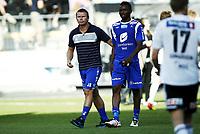 Fotball 8. juli 2012  , Tippeligaen , Eliteserien<br /> Odd - Haugesund<br /> <br /> Jostein Grindheim Haugesund og Umaru Bangura , Haugesund