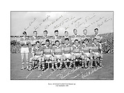 All Ireland Senior Football Championship Final, Kerry v Down, 22.09.1968, 09.22.1968, 22nd September 1968, Down 2-12 Kerry 1-13, Referee M Loftus (Mayo)<br /> <br /> The Kerry Team ,<br /> Back row (from left) Eamon O'Donoghhue, Sean Burrows, Mick Morris, Mick O'Dwyer, Johnny Culloty, Paud O'Donoghue, D J Crowley, Mick Fleming. Front row (from left) Seamus Murphy, Mick O'Connell, Tom Prendergast, Pat Griffin (capt), Denis O'Sullivan, Brendan Lynch, Donie O'Sullivan,