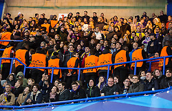 Viole, fans of Maribor during football match between Chelsea FC and NK Maribor, SLO in Group G of Group Stage of UEFA Champions League 2014/15, on October 21, 2014 in Stamford Bridge Stadium, London, Great Britain. Photo by Vid Ponikvar / Sportida.com