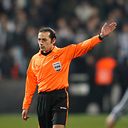 Referee's Cuneyt CAKIR during their Turkey Cup Group B matchday 5 soccer match Besiktas between Trabzonspor at the Inonu stadium in Istanbul Turkey on Wednesday 26 January 2011. Photo by TURKPIX
