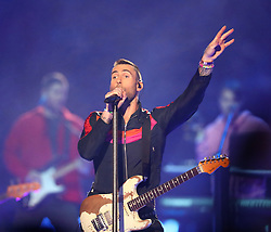 Maroon 5, with lead singer Adam Levine, performs during the Super Bowl Halftime Show at Mercedes-Benz Stadium in Atlanta, GA, USA on Sunday, February 3, 2019. Photo by Curtis Compton/Atlanta Journal-Constitution/TNS/ABACAPRESS.COM