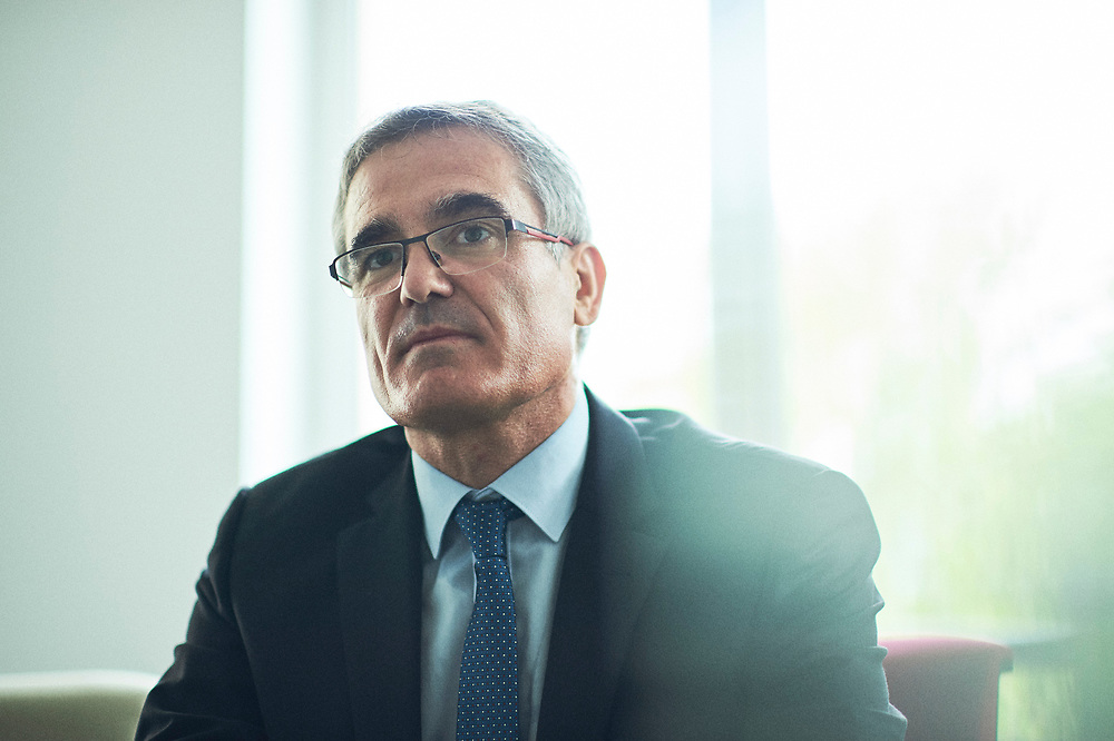 "Pierre Paris, chairman of the board of directors for ""Montagne d'Or"", a gold-mining company driving a project to be set in Guyane, during an interview for Le Parisien Weekend. Paris, France. May 29, 2018.<br /> Pierre Paris, president du Conseil d'Administration de la Compagnie Miniere Montagne d'Or, a la tete d'un projet en Guyane, durant une interview pour Le Parisien Weekend. Paris, France. 29 mai 2018."
