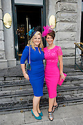 Edel Quinlan, Kilkenny, Michelle Robles, Chicago  at the Most Stylish Lady event at Hotel Meyrick on ladies day of The Galway Races. Photo:Andrew Downes