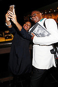 May 10, 2016- New York, NY: United States: (L-R) Photographic Artist Ayana Jackson and Photographer/Author Jamel Shabazz attend the Aperture Magazine Launch for the Vision & Justice Issue held at the Ford Foundation on May 10, 2016 in New York City.  Aperture, a not-for-profit foundation, connects the photo community and its audiences with the most inspiring work, the sharpest ideas, and with each other—in print, in person, and online. (Terrence Jennings/terrencejennngs.com)