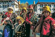 Pilgrims from Kham, Jokhang temple, Lhasa, Tibet