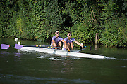 Henley Royal Regatta, Henley on Thames, Oxfordshire, 3-7 July 2013.  Friday  08:50:49   05/07/2013  [Mandatory Credit/Intersport Images]<br /> <br /> Rowing, Henley Reach, Henley Royal Regatta.<br /> <br /> The Double Sculls Challenge Cup<br /> A.J. Groom & B.G. Stentiford (Durham University)