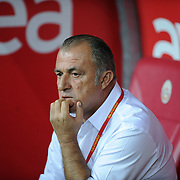 Galatasaray's coach Fatih TERIM during their Turkish Super League soccer match Galatasaray between Eskisehirspor at the TT Arena at Seyrantepe in Istanbul Turkey on Monday, 26 September 2011. Photo by TURKPIX