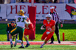 NORMAL, IL - October 16: Kacper Rutkiewicz returns a kick during a college football game between the NDSU (North Dakota State) Bison and the ISU (Illinois State University) Redbirds on October 16 2021 at Hancock Stadium in Normal, IL. (Photo by Alan Look)
