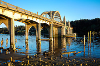 Siuslaw River Bridge in Florence, Oregon.