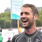 Leon Taylor Swim Serpentine 2018, London, UK. 22 September 2018.