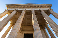 Inspired by the temples of Apollo and Mars in Rome the Maison Carrée is the only preserved Roman temple left from the ancient world.  The Maison Carree was one of the expressions of power put on display by Augustus and owes its exceptional state of preservation to uninterrupted use since the eleventh century.  The building has been used as consulate, stable, apartment building and even a church over the centuries.  After the French Revolution it became the seat of the Prefecture of Gard, then was temporarily converted into departmental archives. Finally it was preserved to its original state - though in a more secular way.