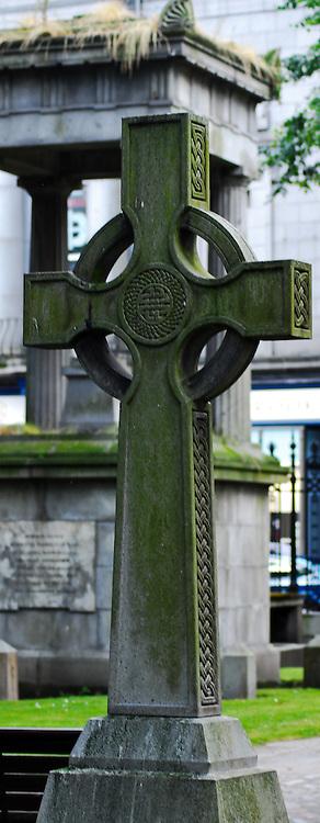 Celtic Cross in the Kirkyard of St. Nicholas in Aberdeen, Scotland