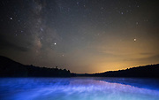 The Milky Way is seen at Bald River Falls and Indian Boundary, Sunday, June 2, 2019, in Tellico, Tennessee. (Wade Payne/www.wadepaynephoto.com)